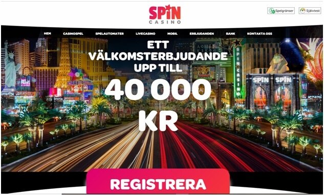 Snurra casino för att spela slots, göra sportspel eller live casinospel i Krona