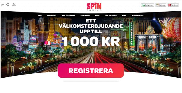 Spin Casino välkomstbonus