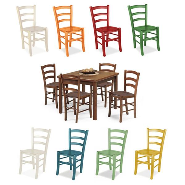 Tutte le nostre offerte per arredare il tuo ristorante. Set Tavolo Sedie In Legno Noce Asia Mobilclick