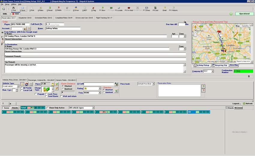 XDS Call-Taker Screen Shot