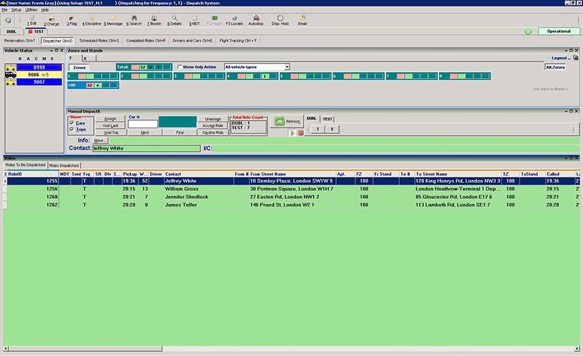 XDS Dispatcher Screen Shot