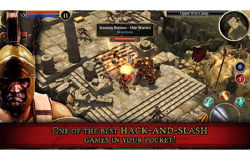 Android için en iyi macera ve bulmaca oyunları Titan Quest indir