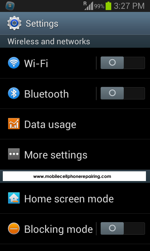 Android Portable Wifi Hotspot - Go to SETTINGS and Select MORE SETTINGS
