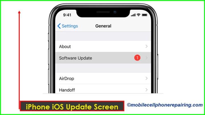 iPhone iOS Update Screen