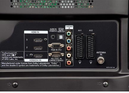 LG 50ZG7000 connections hdmi scart vga yuv test review