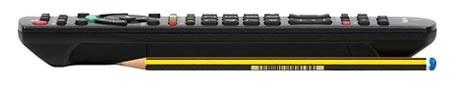 Panasonic TX P42GW10remote control side test review