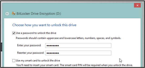 How to password protect encrypt USB Drives without any software-Step 2