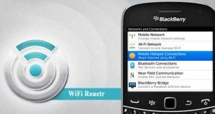 Make BlackBerry As Wifi Router
