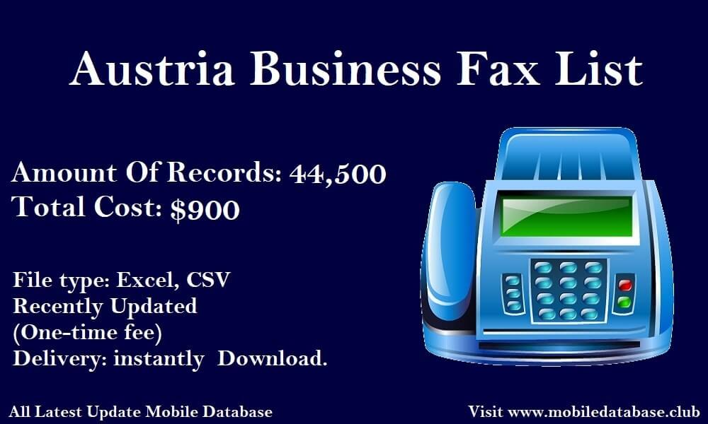 Austria Business Fax List