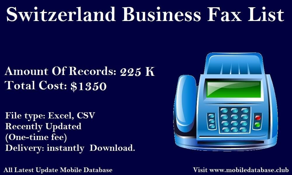 Switzerland Business Fax List