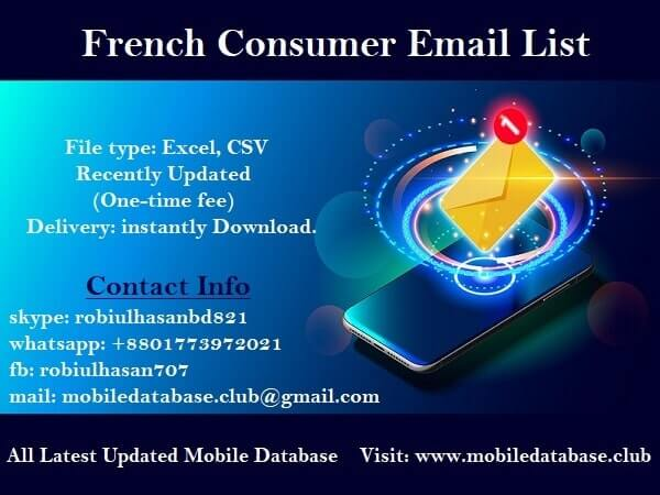 French Consumer Email List