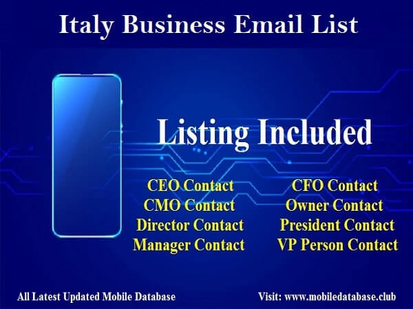 Italy Business Email List
