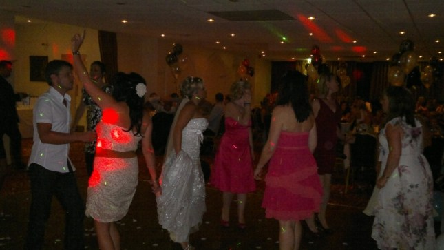 Wedding disco at the Cave Castle Hotel near Hull, East Yorkshire DJ