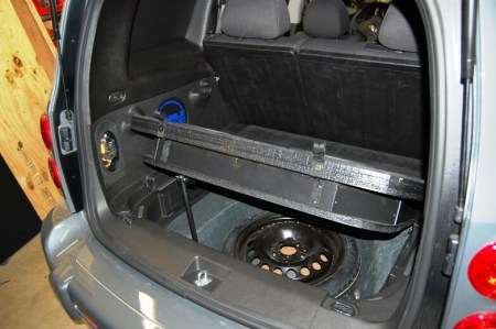 HHR Audio install tire access