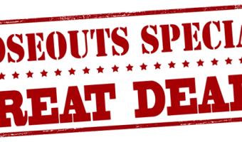 CLOSEOUTS & Special Buys Available NOW!