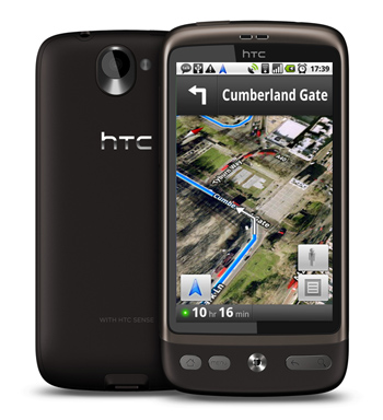 HTC Desire Now includes Free Sat Nav