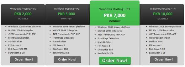 Windows Website Hosting PITB
