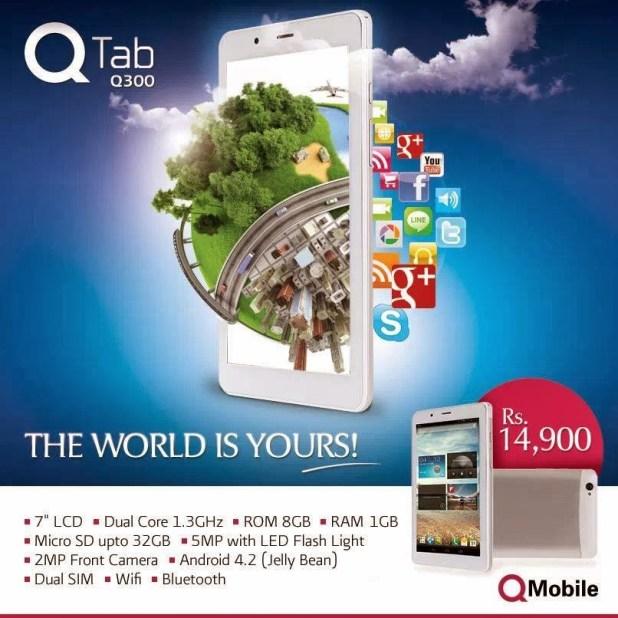 q mobile tab q 300