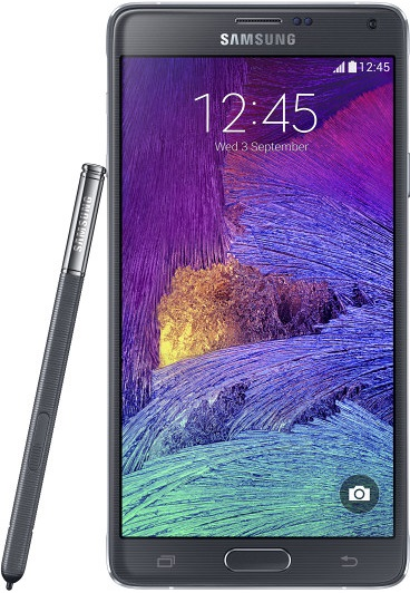 galaxy note 4 front