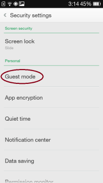 oppo guest mode