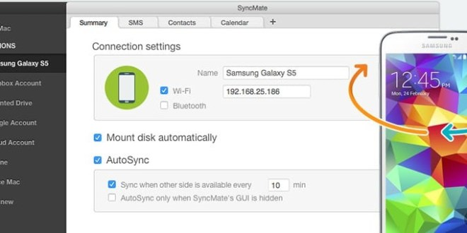 SyncMate, Samsung SideSync for Mac alternative
