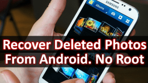 Recover Deleted Photos & Pictures From Android No Root - Free