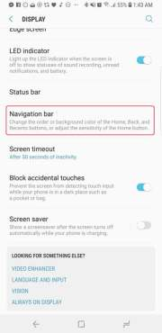 Change Navigation Bar Layout Galaxy S9-S9 Plus