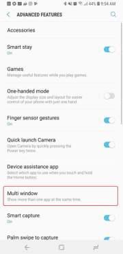 Galaxy S9-S9-Plus split screen
