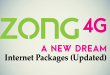 Zong Internet 4G Packages, Daily, Weekly, Monthly, Day, Night & Postpaid