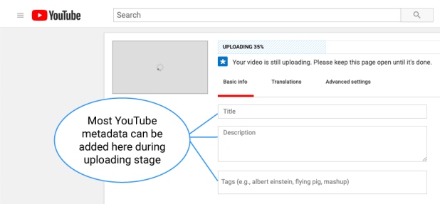 YouTube Basic SEO Tips MetaData