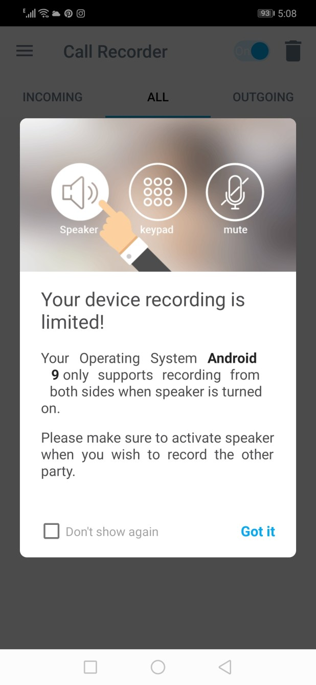 Android App Review Call Recorder