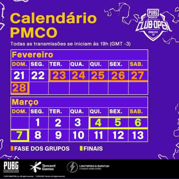 calendario-programacao-pmco-2021-pubg-mobile PUBG MOBILE Club Open 2021 ganha reforços com Toboco e astros do Futebol