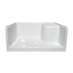 48 One Seat Fiberglass Shower Pan