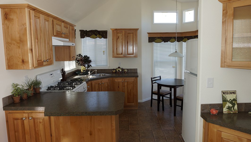 Kitchen of a Fleetwood mobile home