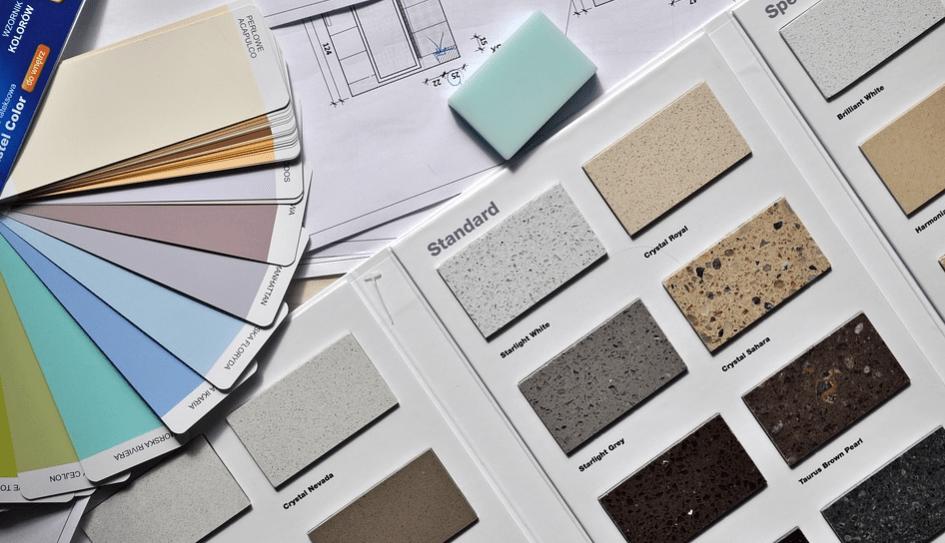 organized folder of interior design options