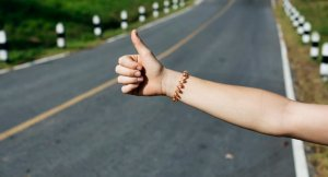 thumbs up by the roadside