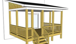 Blueprint of a mobile home deck