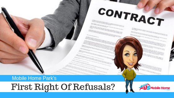 First Right Of Refusals In Mobile Home Parks