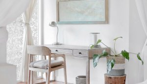 A working table with minimal things