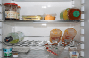 Various items of food in the fridge
