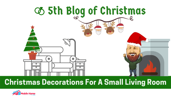 """Featured image for """"5th Blog Of Christmas: Christmas Decorations For A Small Living Room"""" blog post"""