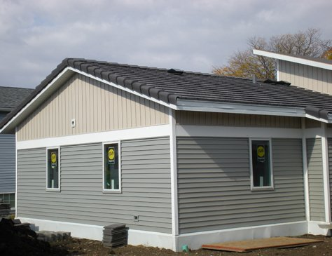 Mobile home cement siding