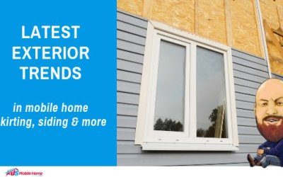 Latest Exterior Trends In Mobile Home Skirting, Siding & More