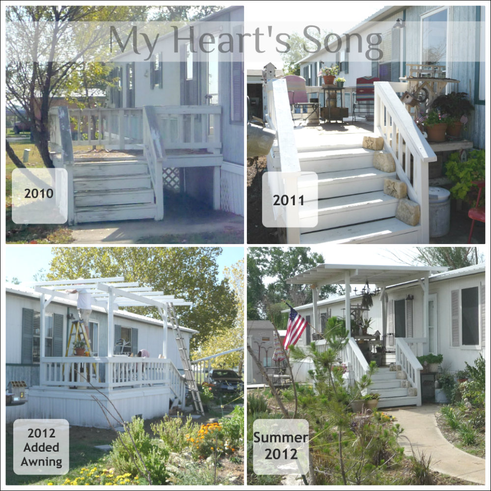 Renovated porch over the years