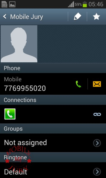 Contact_Samsung Galaxy Star Pro