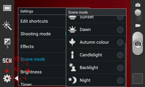 Scene mode(1)_Samsung Galaxy Star Pro