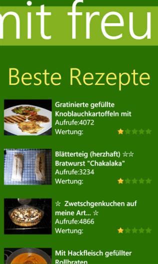 kochbar - Kochen mit Freunden für Windows Phone