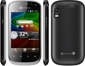 Micromax A75 opt