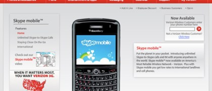Skype Mobile on Verizon Wireless