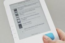 The Kobo eReader book library display screen - Photo: Fabrizio Pilato